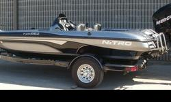 2006 Nitro Performance Bass Boat NX882 18' FOR SALE Mercury 150 Optimax 2 stroke direct injected Bunk Trailer X-47 Lowrance Fish Finder, Battery Charger, 70II Trolling Motor, InFloor Rod Lockers, Engine Alarm, Power Trim, Underwater Exhaust, Cockpit