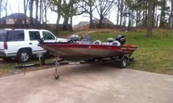Like New Fishing Rig with Mercury 50 HP Engine with just 20 Running Hours. Excellent Storage, Trolling Motor, Break Away Hitch Trailer, and New Lowarance Fish Finder/GPS/with Downscan imaging. Seats and Carpet are in excellent condition as boat has always