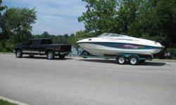 1996 Rinker 232 Captiva Cuddy (24ft Boat) 7.4L 454 Mercruiser engine Bravo III (Bravo 3) outdrive Original Color matching Loadrite Trailer Everything needed for the water included! Boat