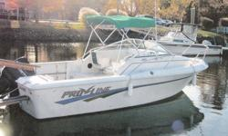 This 20? Pro-Line 201 Sportfish Cuddy walkaround is located in Fairfield, CT. Equally suited as the family day boat or for the casual/experienced angler alike this boat can get you out on the water easily and economically. Featured with the included Load