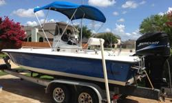 Mako 21ft center console with a Mercury Optimax 200HP Saltwater. This boat is in great shape and engine runs smooth with low hours. All fuel lines, spark plugs, filters, etc have recently been replaced. Hull is in great shape and plenty of storage. Has