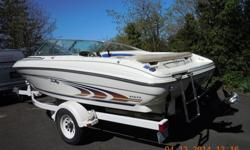19' Sea Ray Signature Bowrider and Trailer. Custom 350 Vortec Engine (low hrs.), Balanced, Roller Cam, Roller Rockers, Edelbrock Aluminum Intake Manifold and Four Barrel Carburetor. Heat Exchanger and Heater. Depth Finder, Bimini Cover, Mooring Cover and
