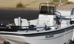 Fishing boat, well equipped with depth finder, two live wells