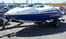 20' 310HP twin motors, 18 hours, one owner, lifejackets, 2 tubes, ropes, 3 bumper buoys and an anchor. Water ready, just had pre check at dealer.