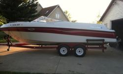 1996 Four Winns 240 Horizon w/ trailer 5.8 Volvo Duoprop, Full tops and camper enclosure. Garage kept. More pics available. 850 hours. Here's a link to Four Winns website.http