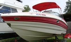 5.0 Mercruiser MPI with Alpha 1 Drive 190 hours, Head Compartment, Engine and Drive in good condition, Bimini, upholstry needs work. This is a bank repo-no trailer