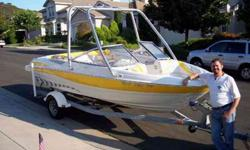 18 feet. 2005 Maxum1800 SR3 Boat. This bow rider in so close to new condition, you can't tell the difference. This is a great boat for water skiing, wakeboarding, fishing, or just cruising. She is White with yellow trim and a checked flag graphic on the