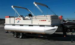 Double Bimini Tops, Sun Deck, Port & Starboard Side Boarding Gates, Spacious Captain?s Chair, Stereo, VHF Radio, Fish Finder, 2 Tables, Cup Holders, Mercruiser 3.0L, Alpha One, Battery Switch, Tandem Axle Trailer w/ Front Boarding Ladder and More! Call