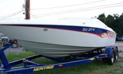2003 Baja Outlaw 20 ft. in great Condition w/ Baja Dual Axle trailer. Only 230 hrs. Boat has been fully serviced EVERY year. Last service was one month ago at Bent's Marine, Boat and Trailer. Mercury 5.0 w/ alpha one out drive, 60 -65 MPH Depth finder, 2