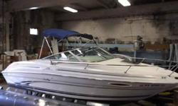 $14,995, MERCRUISER I/O 22HP ENGINE W/177 HOURS, BIMINI TOP W/BOOT, AFT, FORWARD, AND SIDE CURTAINS, INCLUDES BALANCE OF SLIP AND WINTER STORAGE, SLIP FOR 2013 AT DISCOUNTED PRICE, RATED FOR eight PEOPLE, FORWARD ANCHOR STORAGE CHAMBER W/BATCH, ENCLOSED