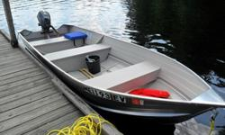 Boat, Trailer and Outboard have about three hour of use due to leaving Maine for the winter and a illness.Engine was winterized and stored in shed. Everything is in new condition.2014 Princecraft Scamper 14' Aluminum Vee Hull 2014 Yamaha 6HP Four Stroke