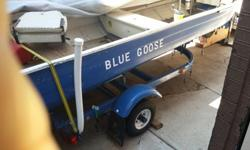 I have a 14' aluminum mirror craft boat. For sale $1000.00. It has a 1998 9.9hp mercury motor, it has a trolling motor, a fish finder, a anchor system, two life jackets, a floating square, two oars, a fire extinguisher, a new seat, two more anchors a 3.3
