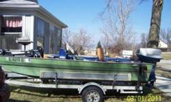 14' TRI-HULL Fishing boat. 40HP motor. Depth finder. Trolling engine. Galvanized trailer. $1500 for all. Will separate. 217/402-5364 Clinton, IL. 1/30. Listing originally posted at http