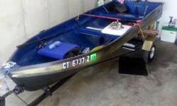 ?(click to respond) This boat is in great shape and comes with everything you will need to launch. CT Registered and ready to go. Great for pleasure or fishing. New antifouling boat paint inside and out, this boat is ready to launch now! All accessories