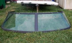 1. Glastron ~ 4 pane, curved glass, fits 1989 futura2. 5 pane with center window that opens. Approximately 76 inches wide