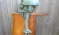 Antique Elgin 6HP-two cyl outboard engine sold at Sears Roebuck. The manufacture date is 1951.Very clean!Asking $150 OBORich414.467.7513Listing originally posted at http
