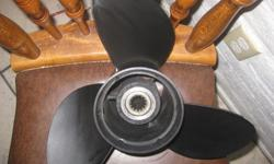 """I have for sale an OMC Johnson/Evinrude Teflon coated stainless steel outboard motor propeller. 13 spline 13 3/8"""" X 17"""" pitch Used it twice but I dont like the weight of stainless steel so I am going to go back to using aluminum props. I am asking $150.00"""