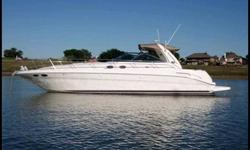 2001 Sea Ray 410 Sundancer $154,900 Sweet boat. 2 stateroom, 2 heads, shower, hot/cold freshwater, galley with microwave, refridge/freezer and 3 burner stove top, salon, 3 tv's, DVD, central vac system, low hour twin Merc. 8.1's, sleeps 6, wet bar and