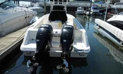 2009 Boston Whaler 32 OUTRAGE Perfect example of a Boston Whaler 320 Outrage in as good as new condition. White hull, twin 300hp Mercury Verados, hard top with weather curtains, console cover, helm seat cover, outriggers, gunnel mounted rod holders,