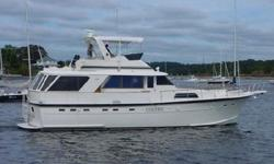 1978 Hatteras 53' Motor Yacht ** There are three staterooms each with its own head ** Master is located aft with center island queen sized bed private head and plenty of storage ** Forward and to port, you have the VIP guest suite with twin beds ** Across