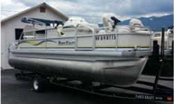 Class:Power Category:Pontoon Year:2003 Make:Godfrey Marine Length:20' Propulsion Type:SINGLE OUTBOARD Hull Material:ALUMINUM Fuel Type:GAS Location:Eagle Nest, NM2003 Godfrey Marine 2020DF Parti KraftExcellent Condition, Great fishing Pontoon, AM-FM CD