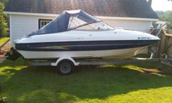 BOAT FOR SALE. 2005 Bayliner with inboard 5.0 v8 220 Mercruiser. 21.2 feet long. Cabin in front with bed that converts to a table with seating. Boat seats 6 and back seats convert to a sundeck for sunbathing. Galvanized trailer. $15,000. Call for more