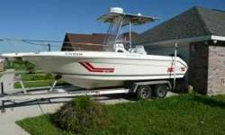 1993 Sea Ray Laguna with center console 21' 1999 Yamaha Saltwater Series II - 200HP. Has less then 600 hours and works great! 1998 Custom Aluminum Slide on trailer * Solar Panel for batteries * 4 Fishing Lights on T-Top * Rebuilt Oil Pump for reservoir *