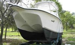 hull excellent hydralic steering (very good) auto pilot ( ( not sure if it works) no power sleeps 2-4 people twin 112 gal tanks live well water pressure system 30 psi water tank will need rigging for outboards ( no cables no controls all solid floors (