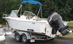 21 Ft. ChrisCraft Fishing Boat with 2008 Suzuki 225 4Stroke Motor used very little ( 60 hrs) . Two Year Factory Warranty still applies on Motor. Has never been in Salt Water. Used Primarily for catfishing in the James. 2002 Loadrite Trailer for hauling.