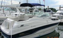 1998 Chaparral Signature is a cabin cruiser that sleeps 4 comfortably. She is powered by 350HP Mercruiser with 450 hours. Has duoProp Outdrive. Fresh water cooled engine, raw water cooled risers were replaced in summer 2012. Equipped with microwave oven,
