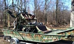 2005 DIAMONDBACK AIR BOAT, 16FT WITH 100 HOURS, 496 FUEL INJECTED, 4 BLADE POWERSHIFT PROP. CALL 989-233-9227 LOCATED IN MICHIGAN