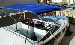 NEW new, new , new! 1. Complete new White Marine Vinyl Upholstery inside cabin too. Captains chairs are rebuilt frames, Rear bench sofa frame rebuilt and the back carpeted2. Complete new Plum Purple Marine grade carpet3. New Bimini Top (Deep Purple) and