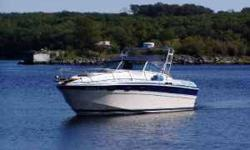 Very, Very Clean Wellcraft 31 ft Express cruiser. Powered by two 2004 340hp, 7.4L Mercruiser Inboards. Equipped with Trim Tabs, 3 Battereis, Shore Power, Full Head & Galley, Large Self Bailing Cockpit, Cabin Sleeps 5+, New Canvas, 2008 Radar Arch with