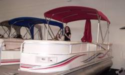 Purchased NEW in 2007 and was put in the water spring, 2007. Note that pictures do not show 2 portable tables that came with the boat. It is powerful enough to pull kids on ski's (small adults) and anyone on rafts. We installed a tow bar for rafts/skiing