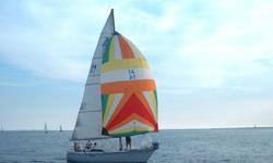 1981 Kirby 30 sailboat built by Mirage Yachts QC.White hull, Yanmar diesel engine, 6 sails, 3 spinnakers, roller furling, , 4 comfortable berths, safety equipment, winter cradle.Great weekender/club racer, fast fun boat , easily handled.If interested