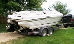 1994 230 Celebrity Status $15,900 This boat is in excellent condition and this model has the cuddy cabin. The cuddy is in excellent condition as well it has storage space, seats along the side and the bed area. The interior is in good condition as well