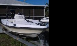 Repowered back in 2009 with a Mercury 150 Optimax, Garmin 740s GPS/Fishfinder, 36v trolling motor, power pole, jackplate, poling platform,trim tabs, underwater lights. Comes with an aluminum Boatmaster Trailer.