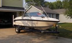 Four Winns Boat ? Mint Condition ? Original OwnerYear: 2004Model: 170 Horizon SunsportLength: 17.4Engine: Inboard/Outboard, 4.3L, V6, 190HPTrailer: Four Winns Easy Load with Guides ? Electric BrakesPrice: $15,900Extras: Wakeboard Tower (Stainless Steel),