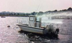 22' open middle console with pilot house2006 - 200HP High Output two Stroke Evinrude E-Tech, less than 50 hours 7 yr warranty on engine expires in 2013Hydralic steering installed new in 2006All electrical wiring, harnesses, battery switches and gauges new
