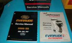 genuine OMC & JOHNSON EVINRUDE FACTORY SERVICE MANUALS 1978-2000 individual manuals for each model outboard most horsepower & years also OMC drive manuals also a mixture of vintage manuals some pre-owned some new some manuals cost $80.00 # my price $15.00