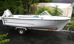 good condition classic swift custom fiberglass 68 hull speed boat with a 69 Chrysler mercury 55hp motor and trailer all included comes with life jackets fire extinguisher distress flares everything you need for a great summer this boat runs like a dream