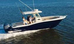 2011 Scout 282 XSF The 282 XSF showcases Scout's technologically-designed NuV3 hull which offers unparalleled performance and fuel efficiency. This power packed 28' center console boasts an oversized 205-gallon fuel tank, which allows anglers to get to