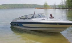 250 hours 454 (7.4L) Bravo 1 original outdrive in mint condintion original propeller in mint condition Marine radio with antenna (one year old). also comes with original Depth finder Shore power installed New camper top pre-owned once New trailer wiring