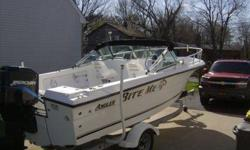 2000 Angler boat, walk thru windshield, live wells, bait wells, new bimini top 125 oil injected Mercury motor. Already for your summer use. Loadrite trailer and power winch. Also, has an Eagle fishfinder, depth finder, Garmin GPS and a new VHF radio. Very