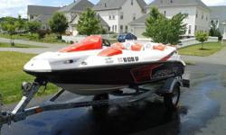 1 owner (me) - Bought new in 2010. Willing to consider reasonable offers. Comes with winter cover, fire extinguisher, step up ladder when swimming, 3 person and 2 person (Rockin Mable) pull behind water couches. Only used in fresh water for 25 hours!