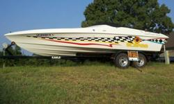 25' Scarab Racing Powerboat, 454 with mods, new Bravo1 outdrive, new high perf headers, tandem trailer.