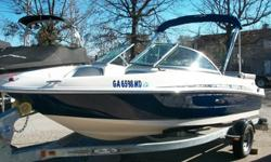 This a Top Quality Sport Bowrider that is in Great Condition. This Sea Ray is powered by a Mercruiser 3.0L, 4-cylinder engine that is very fuel efficient. A factory-matched galvanized steel trailer is included. The vessel is nicely equipped with Bimini