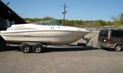 2001 Maxum 24 with 310hp V8 50mph. Two full tops (1 new), Bimini Top, Porta Potty, am/fm/cd/xm, snap in carpet. Only 180hrs always stored indoors with a full cover. Very Good Condition. Call Mike 225-279-1542 (click to respond) Listing originally posted