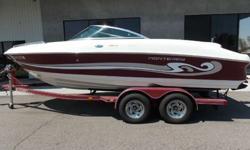 2002 MONTEREY 200LS- Open bow, Mercruiser 5.0L, Custom tandem trailer, Pretty clean boat, Super low hours, Bimini top.