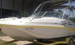This is a 2003 Hurricane SD 187, with a Mercruiser v6 inboard engine. Wake board tower. Just had the engine replaced in 2010 so its currently running in its 2nd season with A LOT more to go yet! If you are serious about buying this boat, send me your